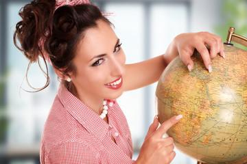 Mädchen erklärt die Welt