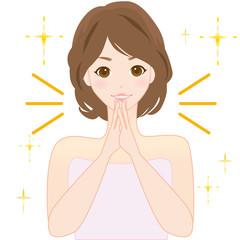 女性 スキンケア 肌荒れ 感動 喜ぶ キレイ