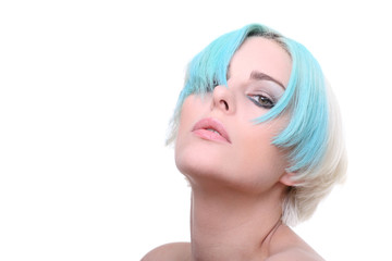 portrait blaue haare