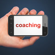 Education concept: Coaching on smartphone
