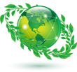 green earth icons on white