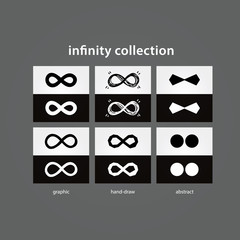 Vector infinity collection. 6x vector infinity in light and dark
