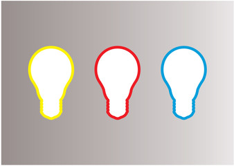 Light bulb vector labels. Modern template with space for your co