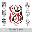 Vintage Monograms SJ SA SC SF SD SB SQ