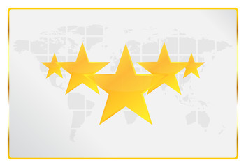 Five Stars Quality Worldwide Card