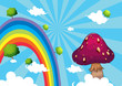 The rainbow and the giant mushroom