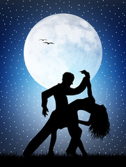 Dancers in the moonlight
