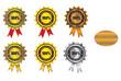 award label collection design