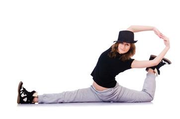 Woman dancer dancing modern dances