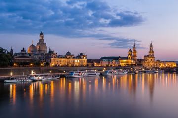 Skyline zu Dresden am Abend