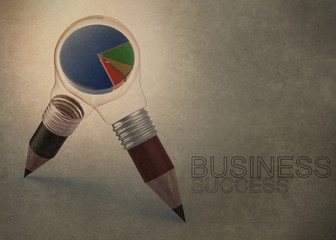 3d pencil light bulb drawing business success