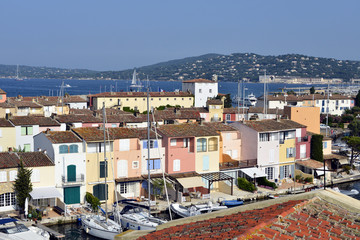 Aerial view of Port Grimaud in France