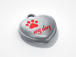 love my dog pendant
