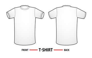 T-shirt template - Frontside and backside