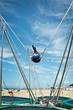 Trampoline à élastique sur la plage de Trouville