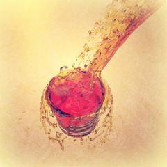 3d orange juice splash