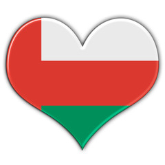 Heart with flag of Oman