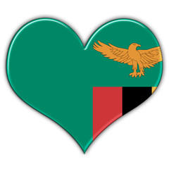 Heart with flag of Zambia