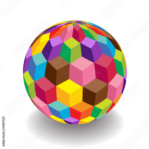 dimensional colorful discoball