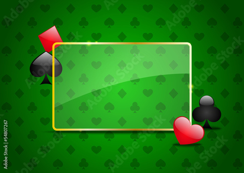 Casino background with cards pattern