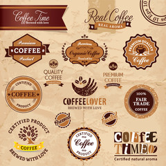 Organic Coffee Crests and badges