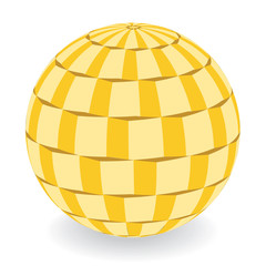 dimensional yellow discoball