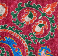 Part of traditional uzbek embroidery pattern