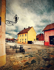 view of street in Varazdin. Croatia.