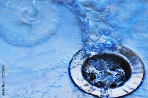canvas print picture water in sink
