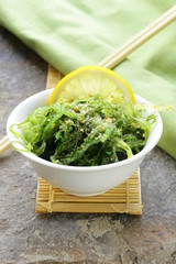 Traditional Japanese Chuka seaweed salad