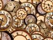 Leinwanddruck Bild Uhren Texture kachelbar
