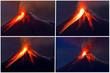 Leinwandbild Motiv Tungurahua Volcano eruption collage