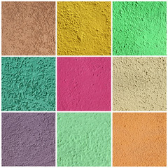 textured  colorful stucco set, images taken in Burano village