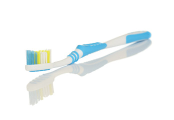 Blue and White Toothbrush