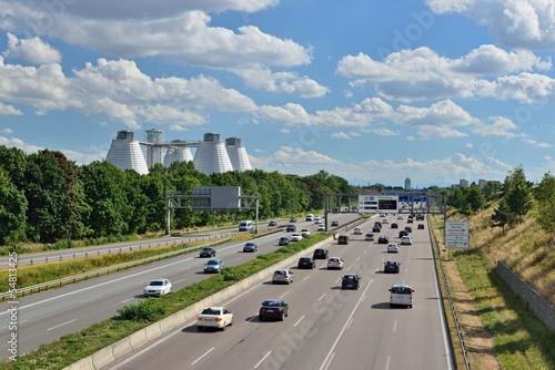 Deurstickers Autobahn in Deutschland