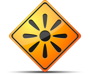 Sun Danger sign