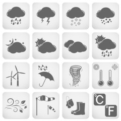 Weather Web Icons Set