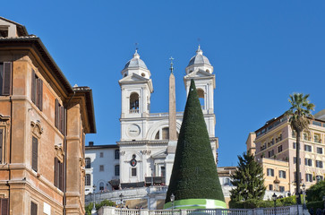 Spanish Steps in Rome before Christmas