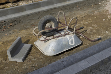 upside down wheelbarrow