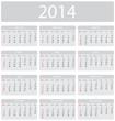 Minimalistic 2014 calendar - week starts with sunday