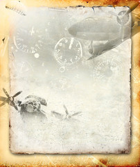 Abstract military background
