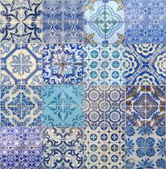 motifs azujelo bleu