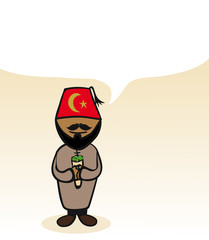 Turkish cartoon person social bubble