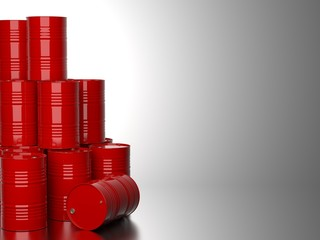 Red Barrels for Oil .