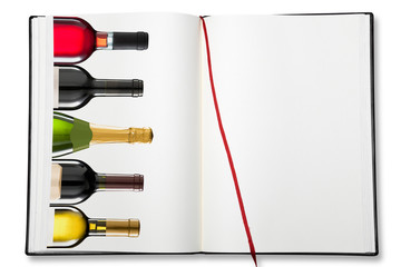 Open blank exercise book (Wine list)