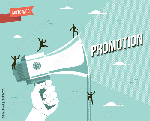 Marketing web promotion illustration