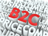 B2C. The Wordcloud Concept. poster