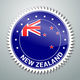 New Zealand flag label