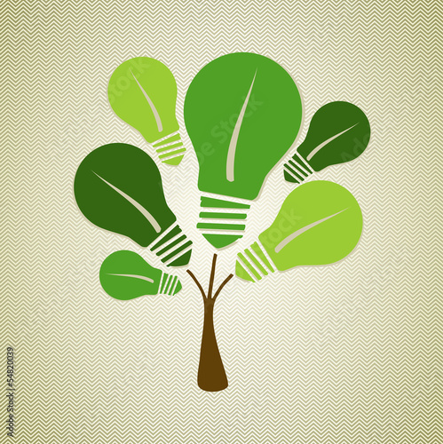 Green life tree illustration