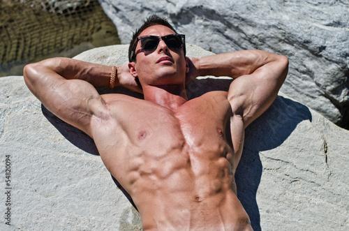 Fototapeten,mann,sexy,strand,sportlich